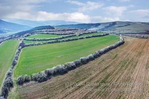 Въздушна снимка на поле